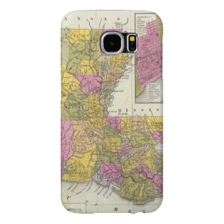 New Map Of Louisiana 3 Samsung Galaxy S6 Cases