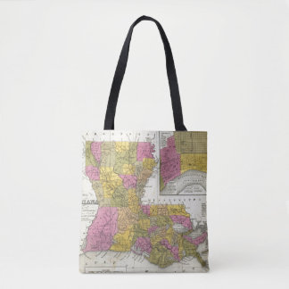 New Map Of Louisiana 3 Tote Bag