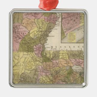 New Map Of Louisiana Christmas Ornament