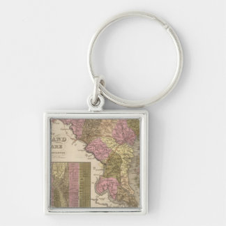 New Map Of Maryland and Delaware Key Ring