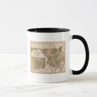 New Map Of Maryland and Delaware Mug