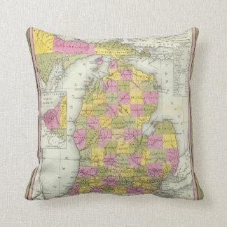 New Map Of Michigan 2 Cushion