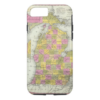 New Map Of Michigan 2 iPhone 8/7 Case