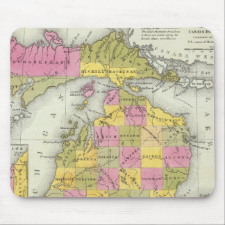 New Map Of Michigan 2 Mouse Mat