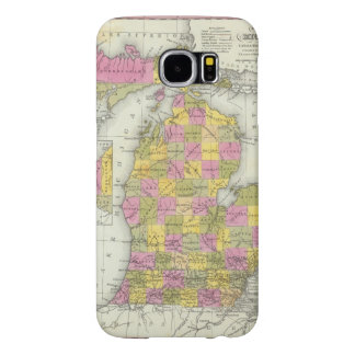 New Map Of Michigan 2 Samsung Galaxy S6 Cases
