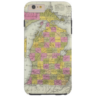 New Map Of Michigan 2 Tough iPhone 6 Plus Case