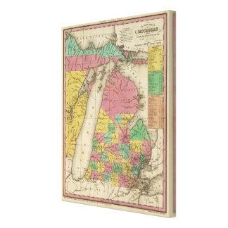 New Map Of Michigan Canvas Print