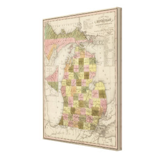 New Map Of Michigan Canvas Print