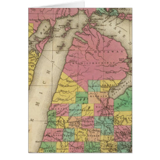 New Map Of Michigan Card
