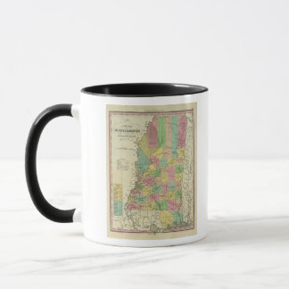 New Map Of Mississippi 2 Mug