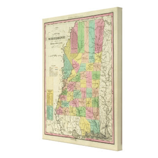 New Map Of Mississippi Canvas Print