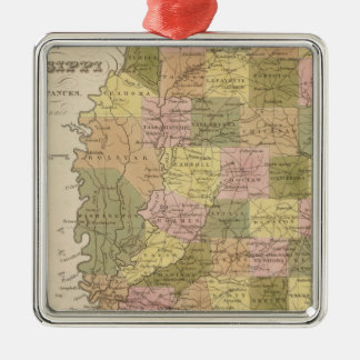 New Map Of Mississippi Christmas Ornament