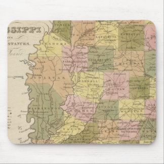 New Map Of Mississippi Mouse Mat