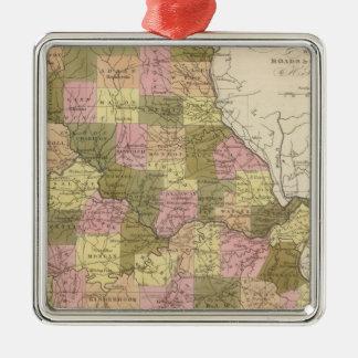 New Map Of Missouri 2 Christmas Ornament