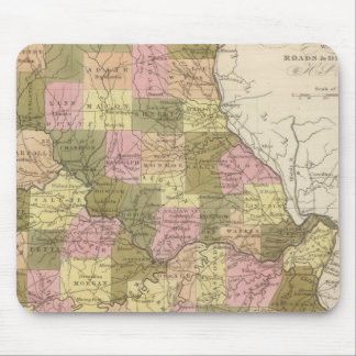 New Map Of Missouri 2 Mouse Mat