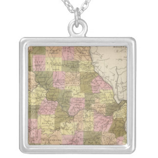 New Map Of Missouri 2 Silver Plated Necklace