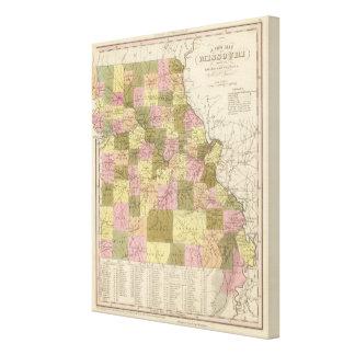 New Map Of Missouri Canvas Print