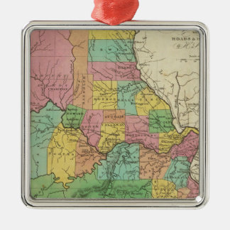 New Map Of Missouri Christmas Ornament