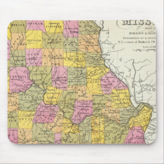 New Map Of Missouri Mouse Mat