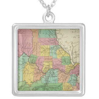 New Map Of Missouri Silver Plated Necklace