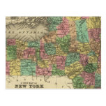 New Map Of New York Postcard