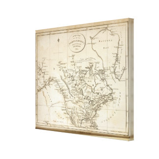 New Map of North America Gallery Wrapped Canvas