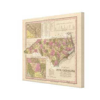 New Map Of North Carolina Canvas Print