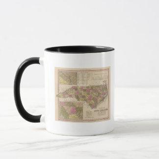New Map Of North Carolina Mug