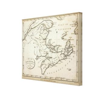 New Map of Nova Scotia, New Brunswick Canvas Print
