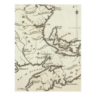 New Map of Nova Scotia, New Brunswick Postcard
