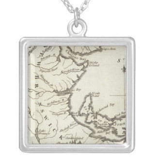 New Map of Nova Scotia, New Brunswick Silver Plated Necklace
