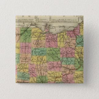 New Map Of Ohio 2 15 Cm Square Badge