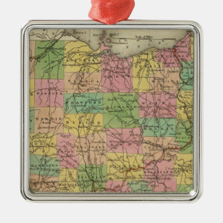 New Map Of Ohio 2 Christmas Ornament