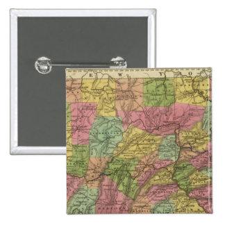 New Map Of Pennsylvania 15 Cm Square Badge