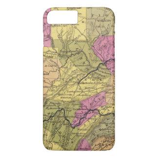 New Map Of Pennsylvania 2 iPhone 8 Plus/7 Plus Case