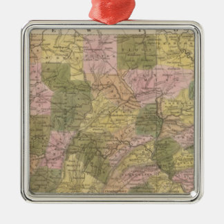 New Map Of Pennsylvania Christmas Ornament