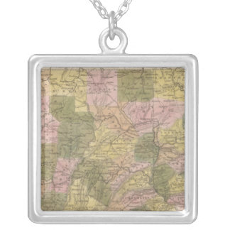 New Map Of Pennsylvania Silver Plated Necklace