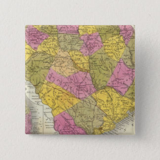 New Map Of South Carolina 15 Cm Square Badge