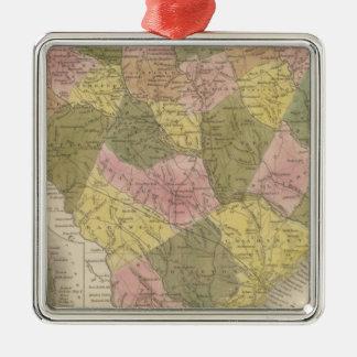 New Map Of South Carolina 2 Christmas Ornament