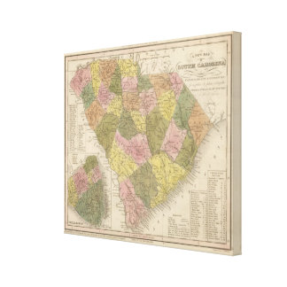 New Map Of South Carolina Canvas Print
