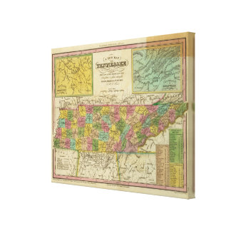 New Map Of Tennessee 2 Canvas Print