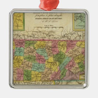 New Map Of Tennessee 2 Christmas Ornament