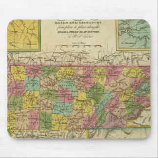 New Map Of Tennessee 2 Mouse Mat