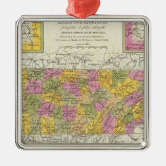 New Map Of Tennessee Christmas Ornament