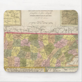 New Map Of Tennessee Mouse Pad