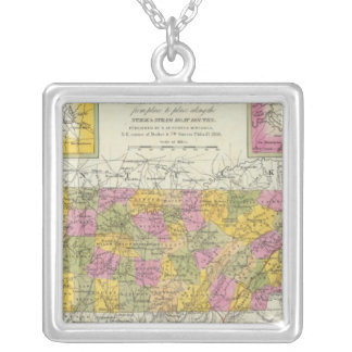 New Map Of Tennessee Silver Plated Necklace