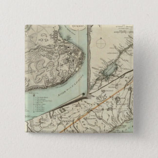 New Map Of The Province of Quebec 15 Cm Square Badge