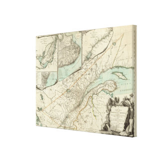 New Map Of The Province of Quebec Canvas Print