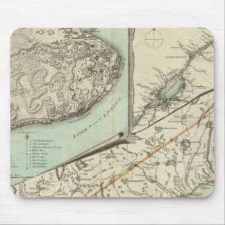 New Map Of The Province of Quebec Mouse Mat