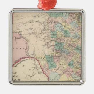 New Map of the State of Texas Christmas Ornament